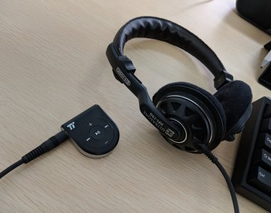 オープン型ヘッドフォンをBluetooth受信機へ接続